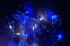 Nuevo 1 Caja de 67 Luces LED Guirnalda Carámbano Cortina Acrílico Perlas blanco y azul hielo