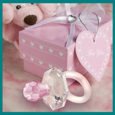 Choix de cristal rose sucette mannequin faveurs avec motif cœur boîte