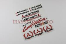 10pc Reflective Decal Sticker set Window Vinyl Fit Mitsubishi Lancer Evolution R