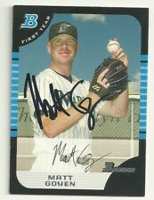 Matt Goyen  Florida Marlins Personally Autographed  Card