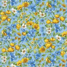 Moda SUMMER BREEZE IV Blue 33283 13 By The Yard Quilt Fabric By Sentimental Stud
