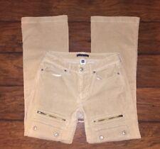 GAP Corduroy Jeans Size 2 Womens Stretch Brown Snap Button Flap Pockets