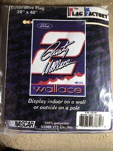 "Brand-new Nascar Rusty Wallace 28"" x 40"" Vertical Flag BIN23"