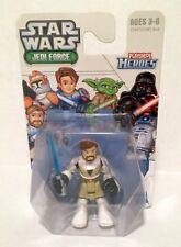 New Star Wars Jedi Force Playskool Heroes 3.75 inch Action Figure Obi-Wan Kenobi