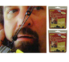 2 NEW ALLEN BOW STRING RIGGING KITS,ARCHERY BOWSTRING RIG NOC/BUTTON/SIGHT SET