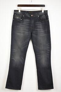 Nudie Jeans & Co. Slim Jim Rich Blue Homme W36/L34 Décoloré Effet Jean 36308_GS