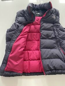 womens north face gilet Purple And Pink