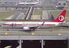 "MAS.Malaysian Airline System Boeing 737-8H6 9M-MXA ""40TH Anniversary""  Postcard"