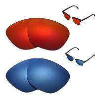 e2553e1345f Unisex Sunglasses Eyeglass Cases. WL Polarized Fire Red + Ice Blue Lenses  For Ray-Ban Clubmaster RB3016 49mm