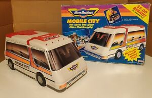 Vintage Micro Machines Mobile City Van playset with box and instructions
