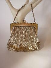 VTG Whiting and Davis Mini Mesh Evening Bag / Purse/ Handbag Silver PROM Bridal