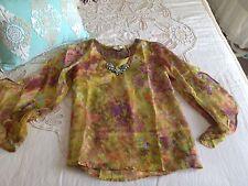 Sundance Catalog New $138 Flora Tunic Embellished Lace Applique Blouse Medium M
