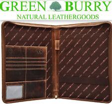 Greenburry Vintage Schreibmappe A4 Konferenzmappe 1721 braun Leder *!bestprice!*