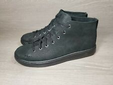 UGG PISMO Black Leather High-Top Shoes Men's Size 8.5 NWOB (NEW)