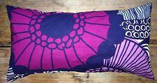 Marimekko Siirtolapuutarha pillow cushion case, 30x60cm Finland gray purple