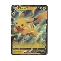 Pikachu V SWSH063 Holo V Power Tin Pokemon Promo Card (Sword & Shield Series)