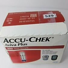 Accu-Chek Aviva Plus 100 Count Exp:10/2020+ Diabetic Glucose Test Strips
