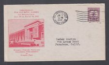 US Mel 718-11 FDC. 1932 3c Olympics, F. Rice cachet, Olympic Fencing Pavilion