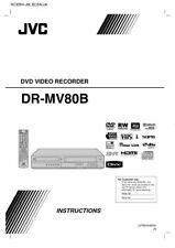 JVC DR-MV80B DVD Recorder Owners Instruction Manual Reprint FREE SHIPPING