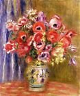 """Auguste Renoir CANVAS PRINT Vase with Tulips and Anemones Art poster 24""""X16"""""""