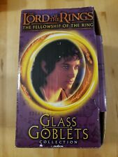 Lord of the Rings Fellowship of the Ring Light Up Glass Goblets Frodo
