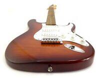 Strat - St Flame Maple - Sunburst Tobacco Exotic Wood - Custom Electric Guitar