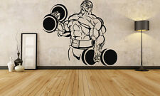 Wall Decor Vinyl Sticker Mural Decal Bodybuilding Gym Crossfit Muscles FI1162