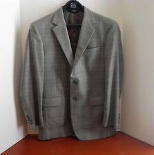 Jos A Bank Mens 38R Gray Plaid Suit Jacket Blazer