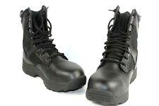 Brahma Swat Boots Men's Size 9.5W Safety Toe Black Leather EUC