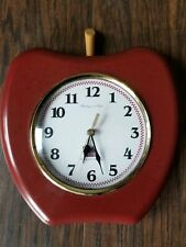 Red Apple Wall Clock Sterling & Noble Battery Operated