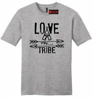 Love My Tribe Mens Soft T Shirt Mothers Day Fathers Day Gift Tee Mom Dad Z2