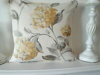 "cushion cover laura ashley fabric print  camomile   hydrangea 16""    piped"