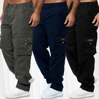 Pantalon cargo de loisirs pour hommes légèrement doublé en tissu épaisseur