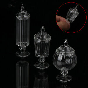 Dollhouse Glass Candy Can im Maßstab 1:12 Flasche Snackglas Miniature KitchenBOD