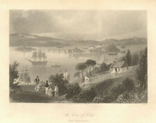 """The Cove of Cork, """"now Queenstown"""". Cobh. Ireland 1843 old antique print"""