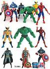 6 PIEZAS SET Los Vengadores Hulk+Capitán+Wolverine+Spiderman+Thor Figura
