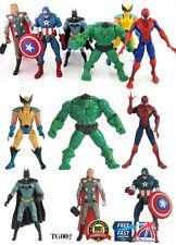 6 PCS SET The Avengers Hulk+Captain+Wolverine+Spiderman+Thor Figure TOYS TG002
