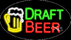 """NEW """"DRAFT BEER"""" 30x17 OVAL LOGO REAL NEON BUSINESS SIGN w/CUSTOM OPTIONS 14513"""