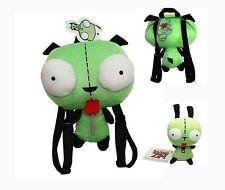 Set of 2 Alien Invader Zim Robot Gir 3D Eye Plush 5.5'' Doll 14'' Backpack Bag