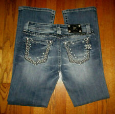 MISS ME for Buckle Embellished Boot Cut Jeans Sz 29x31