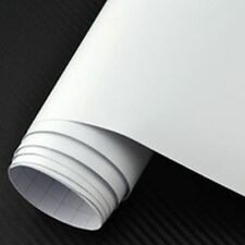 Matt White Bubbles Free Adhesive Vinyl Film Wrap Sticker Decal 3pcs 300x200mm