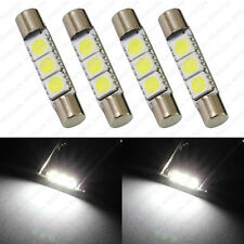 4 x White 3-SMD T6 6641 LED Bulbs For Car Sun Visor Vanity Mirror Fuse Lights
