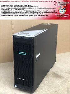 HPE ML350 Gen10 2x Platinum 8160 512GB 2x 8TB 2x 960GB SSD 1x P408i Tower Server
