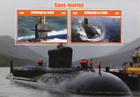 Chad 2016 MNH Submarines 2v M/S Boats Ships Stamps