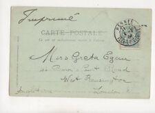 Miss Greta Egan Barons Court Road West Kensington London 1904 305b