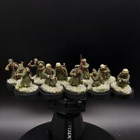 Well Painted 28mm Bolt Action German infantry 10 man squad 3 (winter) ww2