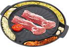 Eutuxia Master Grill Pan for Korean BBQ, Cast Iron Stovetop Nonstick Smokeless S