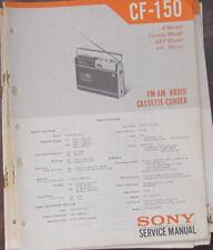 Sony CF-150 cassette radio service repair workshop manual (original copy)