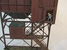 HO Scale Blue Coal Depot - wood & plastic - built-up