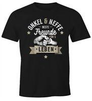 Herren T-Shirt Opa & Neffe, Opa & Enkel, Vater & Sohn Freunde für`s Leben